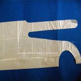 Delantal plástico impermeable disponible del PE de la fábrica del alimento