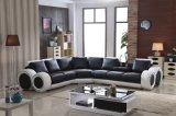 Grande sofà di cuoio a forma di U d'angolo del sofà moderno del salone