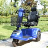 Vespa Handicapped flexible de la movilidad de la vespa de la cabina de la vespa de tres ruedas de la visualización del LCD