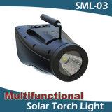 Iluminación solar de interior solar IP65 impermeable de la luz de la lectura de la lámpara de la antorcha que acampa portable