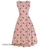 Vestuário Fabricante Vintage Women Pink Kitten 1950 Rockabilly Pinup Dress