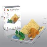 os blocos da série dos edifícios do jogo do bloco 14889408-Micro ajustaram o brinquedo educacional creativo 280PCS de DIY - pirâmides egípcias