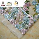 Azul e rosa Flor Delicate Polyster Lace Tecido para festa e Casamento C10011