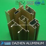 Profil en aluminium d'extrusion de bonne qualité des prix pour la porte de guichet du Nigéria