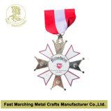 Medaglia d'argento con effetto di sabbiatura