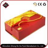 Logotipo personalizado que bronzeia a caixa de presente de papel do armazenamento