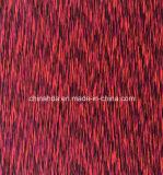 Satén de poliéster Spandex Dying sola Jersey tela que hace punto de Casualwear (HD2203322)