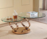연장 스테인리스 다리를 가진 둥근 커피용 탁자