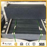 Tief abgezogene/dunkle graue Granit-Treppe Matt-G654 mit Polier- und abgeschrägtem Rand