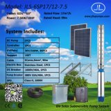 солнечная насосная система 7.5kw, насосная система погружающийся 6inch