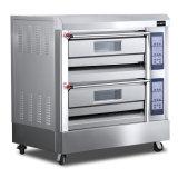 four de gaz de 2-Deck 4-Tray avec le bon matériel de luxe de boulangerie de rendement