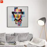 Pop Olieverfschilderij van het Gezicht van de Kunst van de Muur van het Portret van de Ster Abstracte Moderne