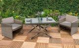 全天候用単にデザイン庭のテラスの屋外の家具2のSeaterの立方体セット