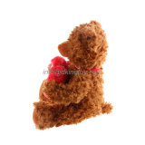 Costume bonito fábrica enchida dos animais do urso da peluche do dia dos Valentim