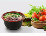bacia de sopa quente plástica descartável da injeção 700ml preta vermelha