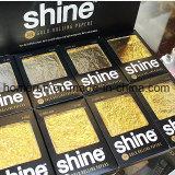 papeles del brillo del papel de balanceo del cigarrillo del oro 24k