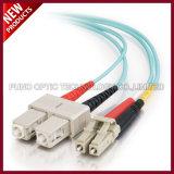 El LC UPC a SC UPC a una cara o duplica puentes ópticos de fibra con varios modos de funcionamiento de 2.0m m LSZH 10G OM3