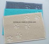 Assiette alimentante Placemat de cuvette de PVC de crabot de tapis de litière du chat de couvre-tapis carré de piégeage