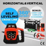 Reichweiten-Stufe + Stativ der Laser-Stufen-kombinierte Installationssatz-500m + 5m Personal-automatische Self-Leveling Drehgrün-Laser-Stufe