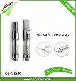 La sigaretta 0.5ml di Ocitytimes E si raddoppia cartuccia dell'olio di canapa della bobina C5