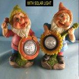 Nano di 2 Asst Polyresin con la decorazione chiara solare di Gnome del giardino