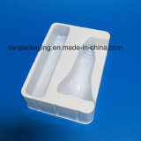 Bandeja blanca del empaquetado plástico del color