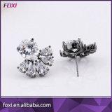 Pendientes agradables de Strass del diseño simple de las joyas para las mujeres