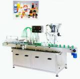 آليّة زجاجة مسحوق [فيلّينغ مشن] مع يغطّي خطّ يعلّب معدّ آليّ