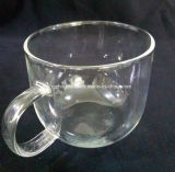 Taza de cristal transparente modificada para requisitos particulares maravillosa