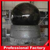 Sfera nera del granito con la fontana bassa G603
