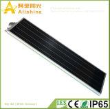 o melhor preço 40W integrou tudo em uma luz de rua solar com sensor de PIR