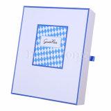 Rectángulo de regalo de lujo plegable especial impreso mata blanca de la cartulina