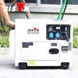 バイソン(中国) BS6500dse 6kw 6000W 6kVAの銅線のキーの開始の販売のための携帯用ディーゼル防音の発電機の価格