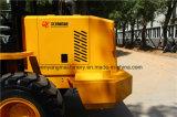 Pequeña capacidad clasificada de dirección articulada del cargador 1600kg de la rueda de la buena calidad