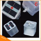 Lanterna de acampamento inflável Foldable impermeável da potência solar da luz do cubo do diodo emissor de luz do PVC para a iluminação Emergency ao ar livre