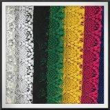Laço elegante do poliéster do laço do bordado da forma do laço da guipura