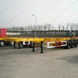 3車軸が付いている半40FTの容器輸送の骨組トレーラトラック