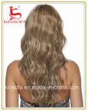 Peluca llena brasileña del cordón del pelo humano de la Virgen de la peluca del pelo humano