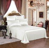 Taihuの雪の絹の優雅シリーズOeko-Tex 100の標準絹の継ぎ目が無い寝具19mommeの実質の贅沢で白く純粋なクワ絹シートセット