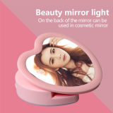 Luz de destello del color de rosa LED Selfie del precio de fábrica, linterna en forma de corazón