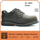 Chaussures de sécurité Goodyear en acier inoxydable avec certificat Ce (SC-8826)