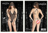 Dames Sexy Erotic Fishnet & Lace Three-Point Teddy 8010