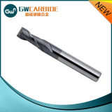 Dois Flutes Solid Carbide End Mill HRC45-50 Tiain Revestimento