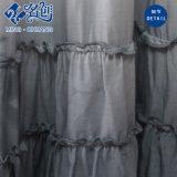 De Gray&White de Slimmering-Taille de Peated de coton longue jupe molle directement