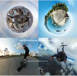 Câmera panorâmico de uma ação de 360 graus com vídeo de fluência vivo duplo da câmara digital 3D Vr do esporte do panorama de Vr grande Lense ultra HD