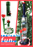 Minigrößen-Doppelt-Recycler-Glaswasser-Rohr-Ölplattform-Zylinder Perc Pyrex Pfeife Hbking Enjoylife Dampf-Anlage