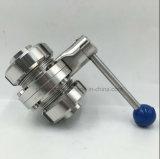 Válvula de mariposa de la autógena de la cuerda de rosca de la manera de dos Cnnection