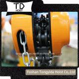 1 Hijstoestel van de Keten van de ton het Hand als Oranje/Zwarte Kleur voor Facultatief