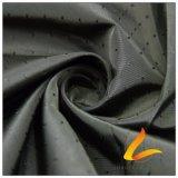 agua de 75D 250t y de la ropa de deportes tela negra tejida chaqueta al aire libre Viento-Resistente 100% del filamento del hilado del poliester rayado del telar jacquar abajo (FJ020SC)