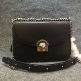 형식 사슬 Emg4565를 가진 소형 어깨에 매는 가방 진짜 가죽 디자이너 핸드백